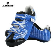 SIDEBIKE Road Bike Shoes Men Cycling Bike Shoes PU Carbon Bicycle Shoes
