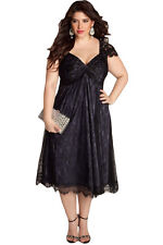 Sexy women Elegant Lace Embellished Red Plus Size evening party cocktail Dress