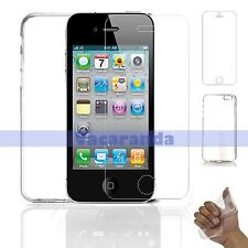 Tempered Glass Screen Protector + Soft Gel Case For iPhone 5 & iPhone 5s 5c SE