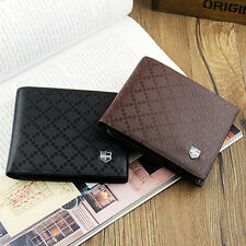 Men's Leather Wallet Pockets Card Clutch Cente Bifold Purse New 2 Colors Showy