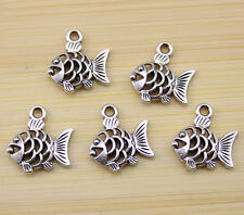 25/50/100PCS Very lively and lovely Tibetan silver fish charm pendant  18x16 mm