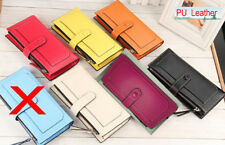 Women Wallets and Purses Multi-colors Zipper and Hasp Long Purse Clutch Bag New