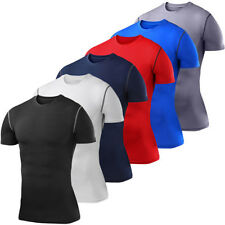 Men's Compression Thermal Base Layer Top Long Sleeve Tights Yoga Sports T-shirts
