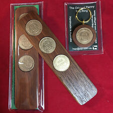 1932 Birthday Gift Present Jarrah Two-Up Game & Penny Keyring Gift Pack