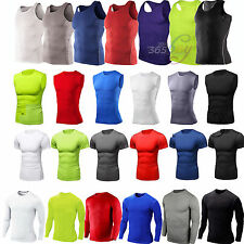 Mens Compression Base Layers Body Armour Tights Tops T-Shirts Running Sportswear