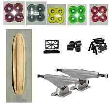 Natural-LONGBOARD-skateboard-Cruiser-deck-milled-COMPLETE SELECT YOUR WHEELS
