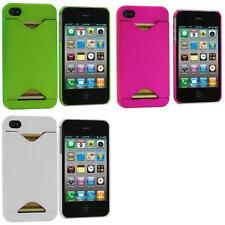 Credit Card ID Snap-On Hard Rubberized Case Cover Accessory for iPhone 4S 4G 4