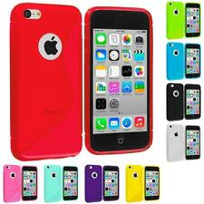 For iPhone 5C TPU Rubber S-Shape S-Line Soft Flexible Case Cover Skin Accessory