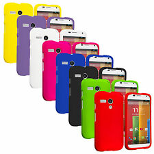 For Motorola Moto G Hard Rubberized Matte Snap-On Case Cover Accessory