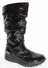 NEW SKECHERS EXPLORER WHAT UPS BLACK PATENT TALL BOOTS