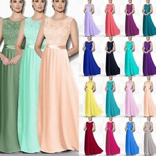 Floor Length Chiffon Evening Formal Party Prom Bridesmaid Dress Stock Size 6-18