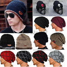 Unisex Winter Wool Knit Ski Beanie Skull Slouchy Oversize Cap Hat Thick Warm Hat