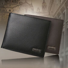 Fashion Men Genuine Leather Trifold Wallet ID/Credit Card Holder Coin Purse Slim