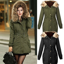 Women's Warm Winter Fur Hooded LONG Coat Parka Thicken Overcoat Jacket Outwear