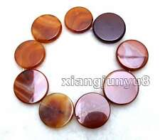 """SALE Big 40mm Round Red Multicolor Striped Agate Loose Beads Strand 15""""-los665"""