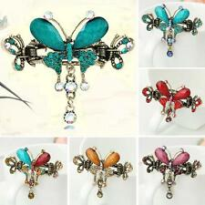 Bow Knot Court Rhinestone Hair Clip Hairpin  Butterfly Crystal