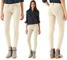 $189 7 For All Mankind Skinny Zip Ankle Vanilla Corduroy Jeans Pants
