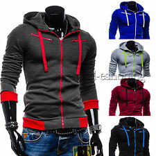 Mens Fleece Sweater Cardigan Jacket Zipper Hoodie Hoodies Sweatshirt Slim Coat