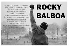 1- Rocky Balboa Quote Poster V2 ( 4 Sizes Available) Luster Paper