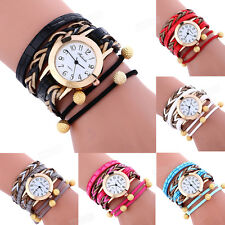 Womans Fashion Bracelet Watch Wrap Weaving Around Lady Casual Dress WristWatches