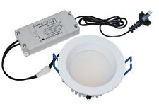 LED Downlight 14W Dimmable Fixed Round in White or Chrome 15cm IP54 CLA Lighting