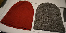 Lot of 2 Soft Beanies Maroon Red Pepper Black