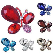 Fashion Crystal Rhinestone Butterfly Brooch Pin Jewelry Costume