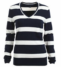 TOMMY HILFIGER WOMEN'S PULLOVER KNITTED SWEATER STRIPES SIZE SELECTABLE