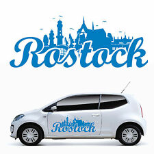 10955 Car Sticker Skyline Rostock Hanseatic City Baltic Sea Auto Tuning Sticker