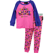 John Deere Youth Girls Pajamas Set FG2764PJ S M L 4 5/6 6X