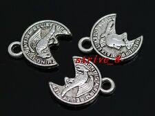 60/300pcs Tibetan Silver ancient badge Alloy Jewelry Charms Pendant 15x12mm
