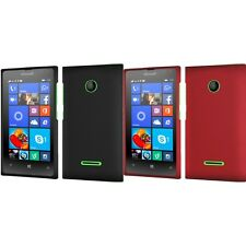 For Nokia Microsoft Lumia 435 Rubberized Matte Snap-On Hard Case Phone Cover