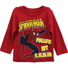 Spider-Man Red Long Sleeve T-Shirt Top Tee Boys Spiderman 6M6311 2T 3T 4T