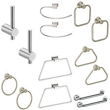 Doyours Stainless Steel Napkin Holder Anti-corrosive Towel Ring Pack of 2 Pieces