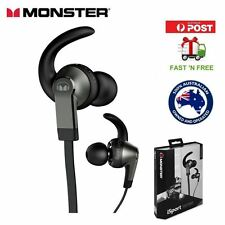 MONSTER iSport Victory Black In-Ear Wired Stereo Beats Earphones Brand New