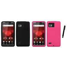 For Motorola Droid Bionic XT875 Silicone Skin Rubber Soft Case Cover Stylus Pen