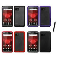 For Motorola Droid Bionic XT875 TPU Hard Case Skin Phone Cover Stylus Pen