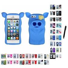 For Apple iPhone 5/5S/SE Silicone Design Skin Soft Phone Case Cover Stylus Pen