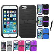 For iPhone 5/5S/SE Heavy Duty Protection Case Silicone Hard Cover Stylus Pen