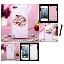 For Apple iPod Touch 5th 6th Gen Diamond Bling Rhinestone Case Cover Stylus Pen