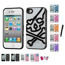 For Apple iPhone 4/4S TPU Hard Case Skin Phone Cover Stylus Pen