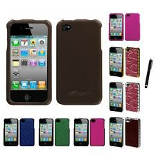 For Apple iPhone 4/4S Hard Executive Case Phone Cover Stylus Pen