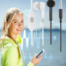 3.5mm In-Ear Stereo Earbuds Earphone Headset With Mic For Samsung Xiaomi iPhone