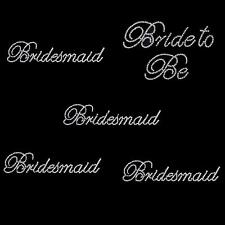 Flower Girl/Bride To Be /Bridesmaid Wedding Party Crystal Transfer Motif Sticker
