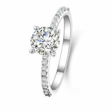 1CT Sona Simulated Diamond 925 Silver Women's Wedding Ring Engagement Ring Gift