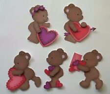 3D-U Pick-LV11 Bears Boy Girl Hearts Love Valentine Card Scrapbook Embellishment
