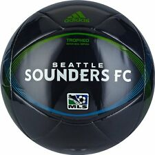 adidas 2012 MLS Tropheo Seattle Sounders Soccer Ball Charcoal / Green / Blue