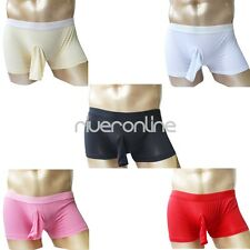 Mens Sexy Penis Sheath Boxer Briefs Underwear Trunks Pouch Stretch Swim Shorts