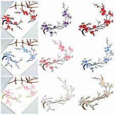 Craft Motif Plum Blossom Applique Patch Sew/Iron On Embroidered