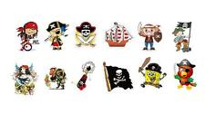 Pirate Tattoo 12, 24 or 36 Pirate Party Favours - Temporary Water Transfer